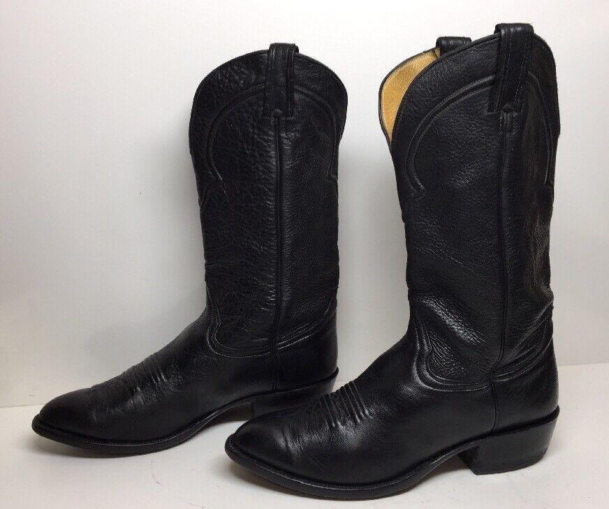 H VTG Uomo CARTER'S COBBLER COWBOY LEATHER nero stivali stivali stivali Dimensione 10 D 2b0078