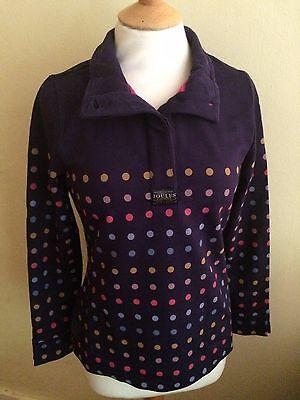 JOULES Cowdray Style Navy Multi Spot  Sweatshirt Sz 8 Free UK P/&P
