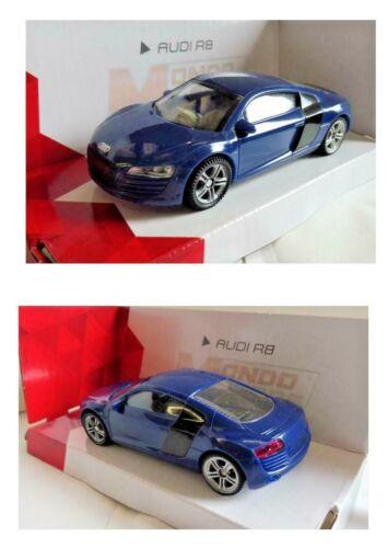 PROMO AUDI R8 Bleu Mondo Motors 1//43 Neuf boite d/'origine