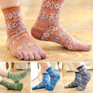 Hot-New-Men-039-s-Women-039-s-Socks-Pure-Cotton-Sports-Five-Finger-Socks-Toe-Socks-YJ