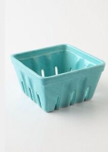 Anthropologie Farmers Market Basket Create Large Square Turquoise Green Retired