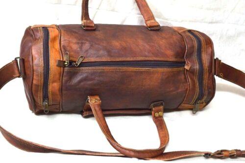 "24/"" Men/'s genuine Leather large vintage duffle travel gym weekend overnight bag"
