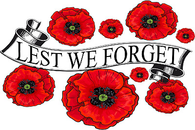 Lest We Forget Red Poppy Day November 11 Remembrance Armistice Day