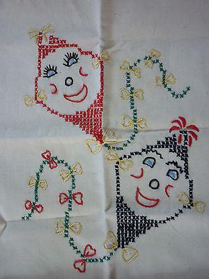 Beutel Jute Tasche Stickerei Shopper Tasche Baumwolle Henkel Einkauf Trage Bag