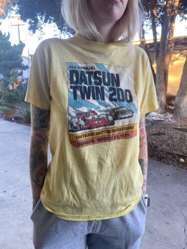 Vintage 70s Nissan Datsun Racing Tshirt