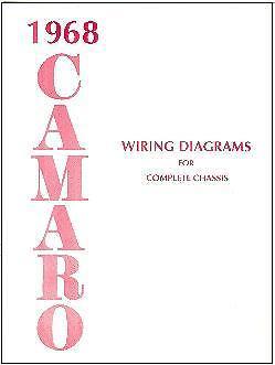 1968 68 CAMARO WIRING DIAGRAM MANUAL | eBay