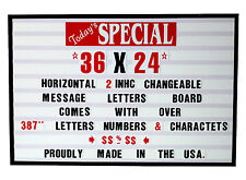 New 2 inch Changeable Letters Open Close Sale Custom Coroplast Window Sign
