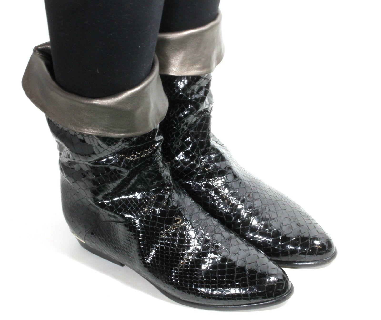 Damenstiefel Vintage Flats Brunella Stiefel Blogger Hipster Flats Vintage Reiter ... d7be10