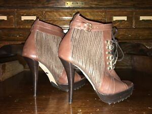 Us Guardiani Pour Femmes Taille Marron Cuir 5 Chaussures Hauts Alberto 35 En Euro À Talons waXwq6