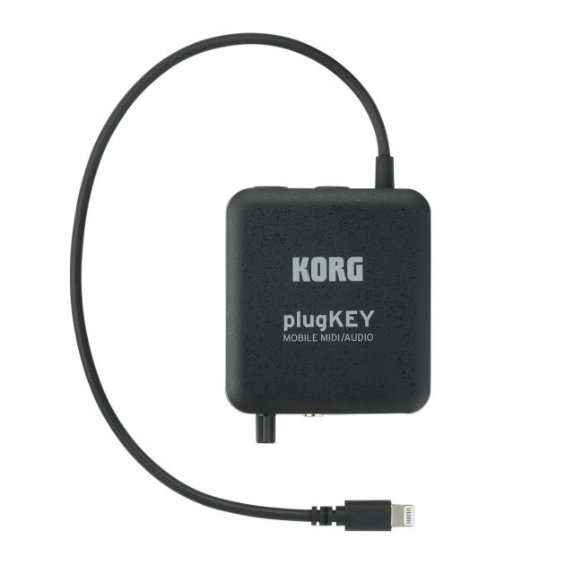Korg plugKEY is a Portable MIDI and Audio Interface Black ships from US