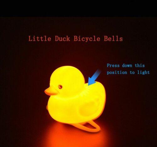 Bike Bell Duck Bicycle Horn Light Bell Cartoon Helmet Bike Motorcycle Handlebar
