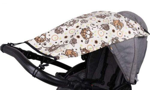 Universal Pushchair Pram CANOPY Sun Cover Rain Protection Umbrella Owls Shade