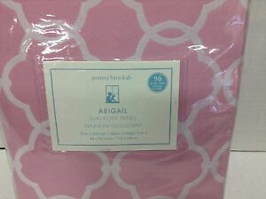 Pottery Barn Kids Abigail Pink Lined Drapes Curtains
