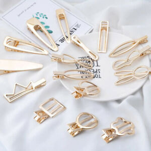Fashion-Women-Gold-Geometric-Hair-Clips-Barrette-Bobby-Hairpin-Hair-Accessories