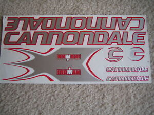 Red /& Black. Cannondale Stickers Iroman Silver