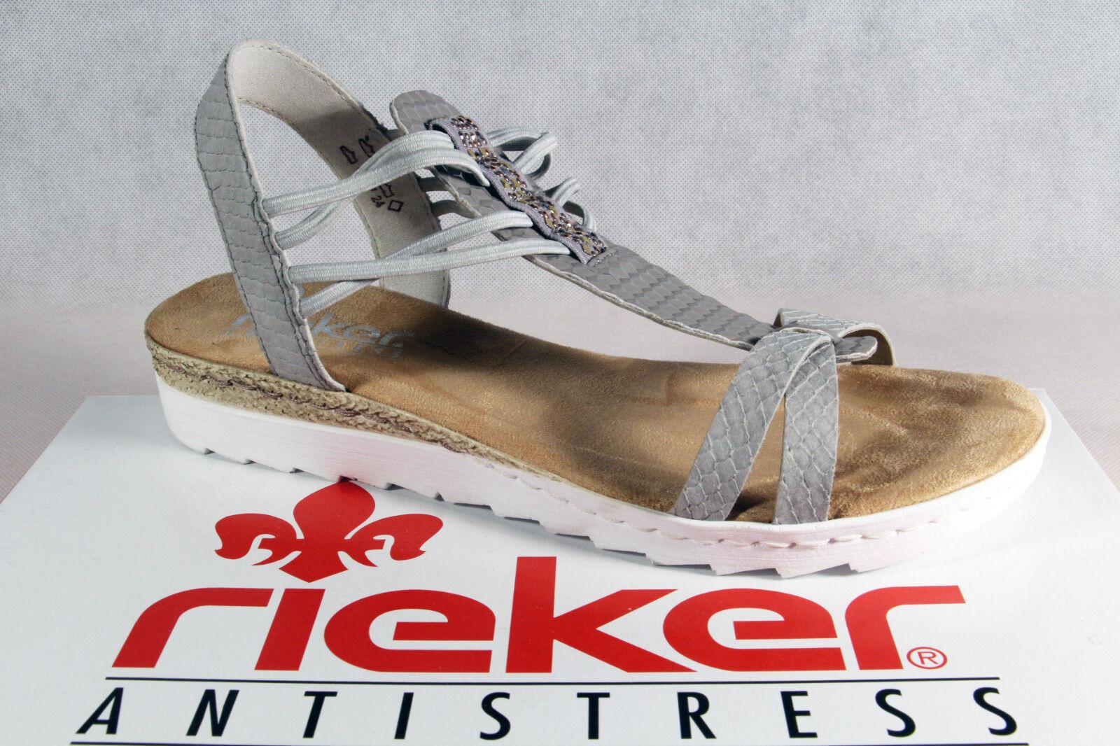 Rieker Damen Sandalen Sandaletten Sandale NEU grau 63029   NEU Sandale d08c74