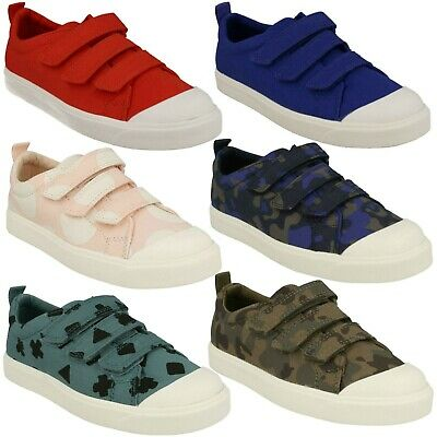 /'Boys Clarks Doodles/'  Canvas Shoes City Flare Lo K