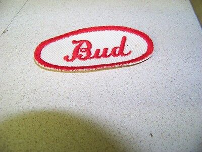 Red /& White Bud Uniform Name Patch Chrysler Dodge Plymouth Buick Olds Chevy