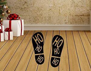 HO-Ho-Ho-Santa-Boot-Natale-finestra-parete-pavimento-Adesivo-Decorazioni-Natale-Shop