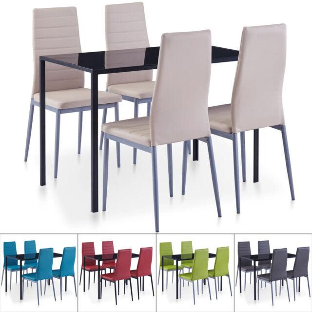 Esszimmergruppe Essgruppe 4 Stühle Sitzgruppe Esstisch Esszimmer Stuhl Tisch Set