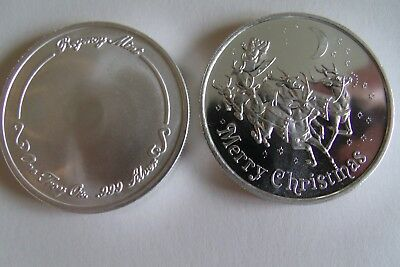 Christmas Rounds Coin 2019 1oz Fine 999 Silver Quot Rudolph