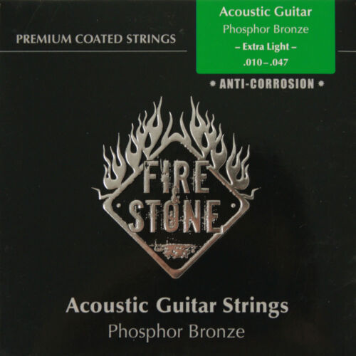 Fire/&Stone Akustik Western Gitarre Premium Coated Phosphor Bronze Saiten Satz