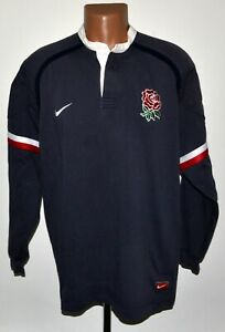 England-Equipe-Nationale-1998-2000-Rugby-Union-shirt-Jersey-NIKE-taille-XXL-adulte