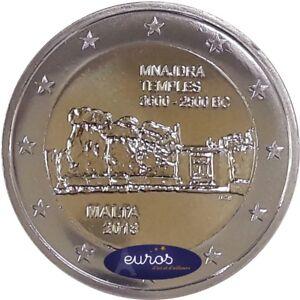 Piece-de-2-euros-commemorative-MALTE-2018-Mnajdra-UNC-400-000-ex