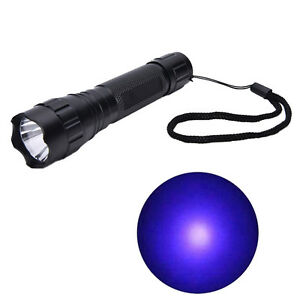 UV-WF-501B-LED-365NM-Ultra-Violet-Blacklight-Flashlight-Torch-18650-Light-LampAT