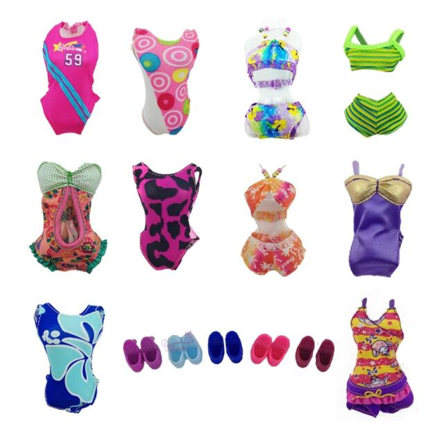 Handmade 5 Sets Badeanzug Strand Bikini Baden Badebekleidung Outfits für Barbie