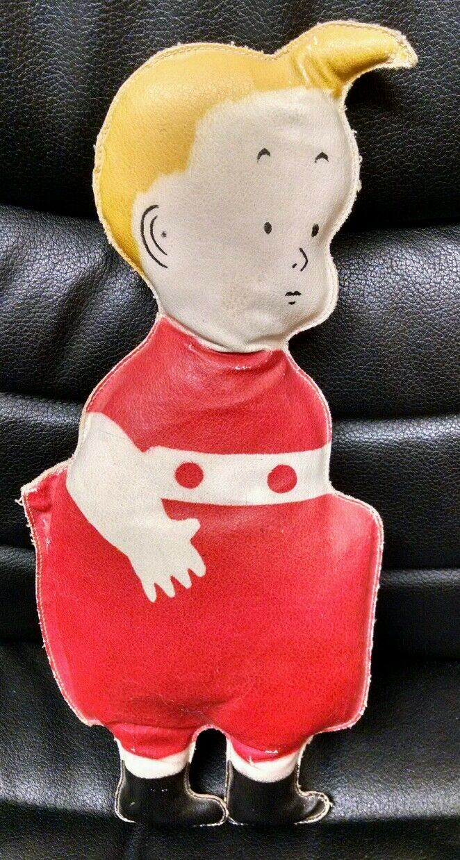 Vintage Antique Comic Skeezix Oil Cloth Doll, 1925, SIGNED by Frank King  Ex