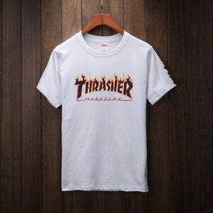 42257368e HOT fashion supreme flame thrasher joint models cotton short-sleeved ...