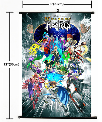 HOT Anime Kingdom Hearts Wall Poster Scroll Home Decor Cosplay 491