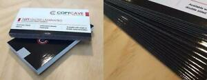 GLOSS LAMINATED BUSINESS CARDS - PRINTING - Extra durable, lowest prices, flat rate design service available Canada Preview