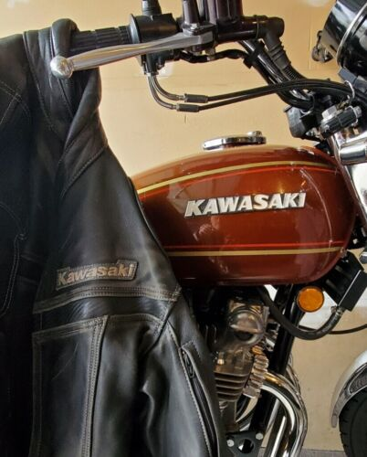 Vintage Kawasaki Leather Motorcycle Jacket, Size 4