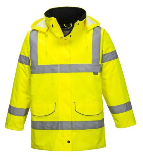 Portwest S360 Hi-Vis Ladies Traffic Waterproof Bodywarmer Jacket Coat