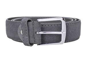 zapatos de separación 018c0 f274b Detalles de Cinturón Hombre Diamond Gris ante Casual Elegante Gris Cinturón  Cinturón Ante
