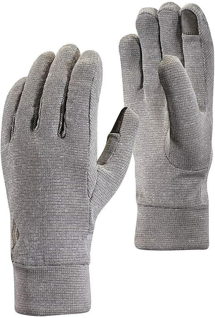 Black Diamond Lightweight wooltech Unisex Gloves Sport Shoes, Grey, XS