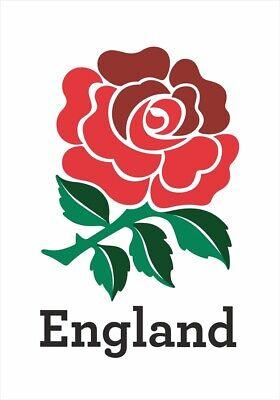 4 x Premium Quality English Rose England Rugby Union Team Logo Stickers