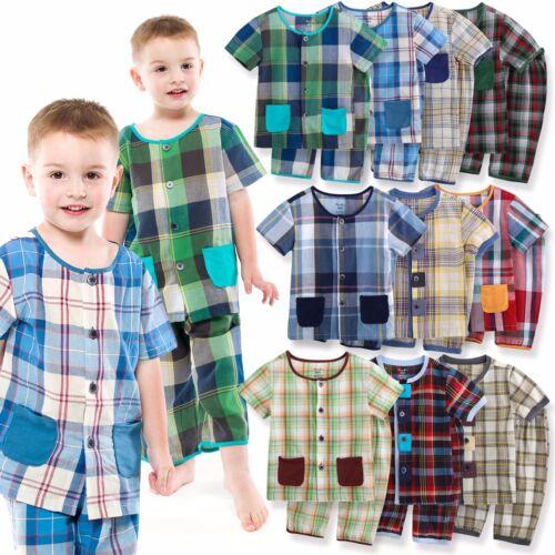 "Vaenait Baby Toddler Kids Boys Clothes Pajama Set /""Cooling Check set/"" 12M-7T"