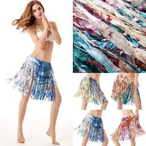 54a2887564 Fringe Skirt Beach Summer Tassel Wrap Sarong Bikini Cover Up Dress ...