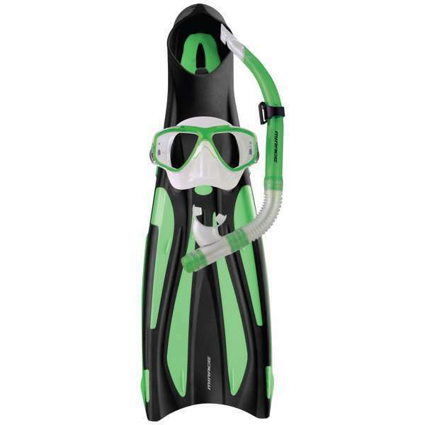 Mirage BARRACUDA SILICONE MASK SNORKEL & FIN SET - green M