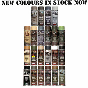 Army-Spray-Paint-Cans-400ml-Military-Paint-paintball-airsoft-various-ral-colours