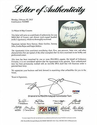 Official Website Ozzie Guillen Steve Garvey Fergie Jenkins Tommy John Baseball-mlb Sports Mem, Cards & Fan Shop 1 Signed Baseball Psa/dna Pleasant To The Palate