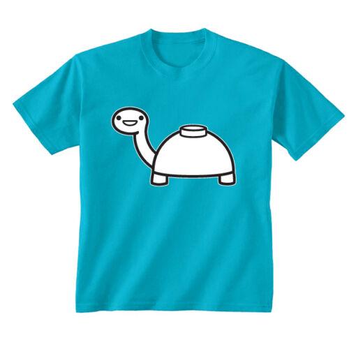 Youth Kids Childrens Mine Turtle ASDF Cartoon Funny T-shirt Age 5-13 Years