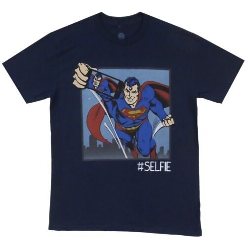 Superman #Selfie Hashtag DC Comics Licensed Adult T Shirt