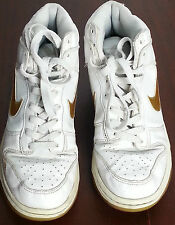 nike high dunk girls womens ladies size 5 UK trainers 316604-108 gold white