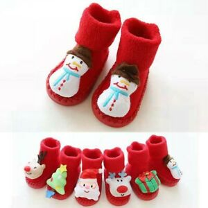Newborn-Infant-Baby-Boys-Girls-Christmas-Floor-Socks-Anti-Slip-Step-Socks-Shoes