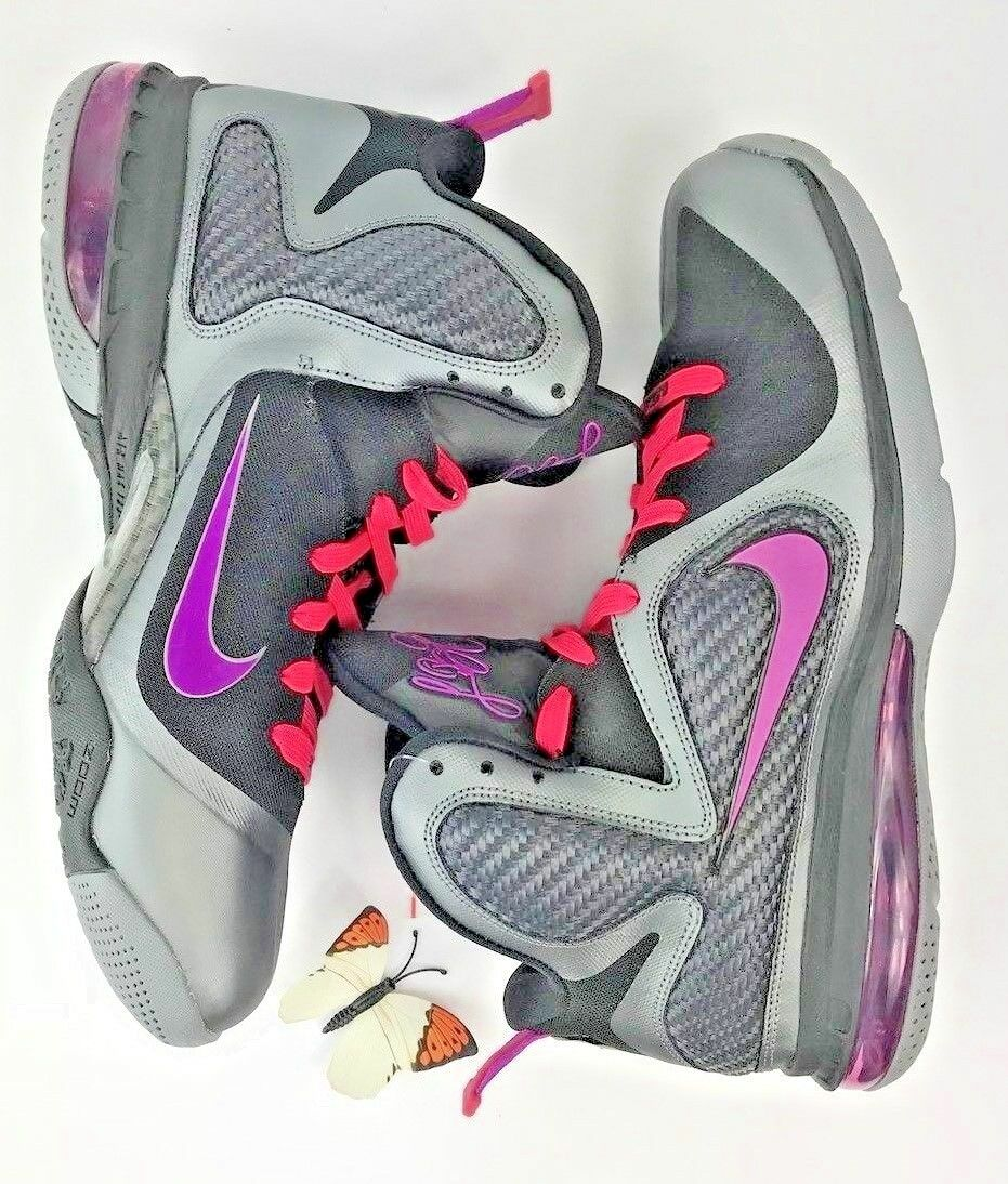 NIKE LEBRON 9 MIAMI KNIGHTS Basketball Athletic Sneakers 10.5 VNDS 469764-002