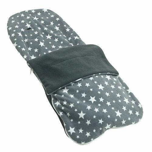 Snuggle Summer Footmuff Compatible With Silver Cross Reflex Grey Star